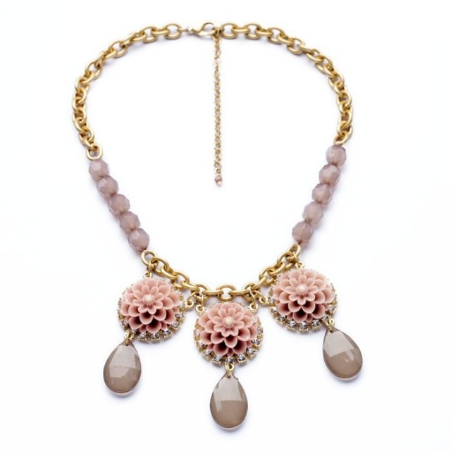 European American fashion women jewelry industry factory direct fresh sweet flower pendant necklace drops - Home Decoration Super Market store