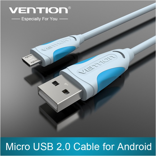 VEnTIOn Micro USB Cable Fast Charging Mobile Phone Andriod Cable Adapter 5V2A 1m 2m 3m USB 2.0 Data Charger Cable for Samsung LG(China (Mainland))