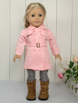 "4PCs Pink Fashion Suit fits 18"" American Girl Doll Clothes A31"