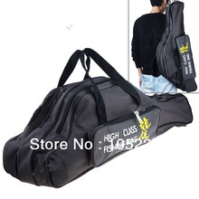 Free shiping!Durable 80cm 3-Layer Hard Shell Canvas Fishing Rod Pole Bag Fishing Tackle Carrying Case - Color Assorted HHF-13118(China (Mainland))