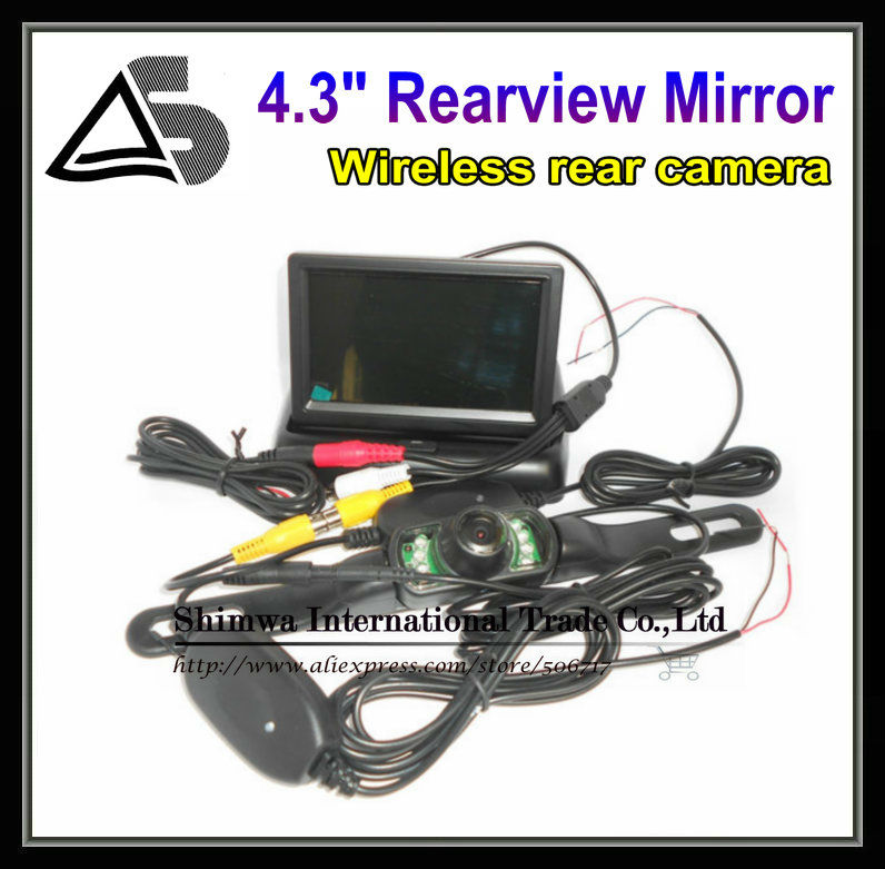 4.3 Inch TFT LCD Mini Car Dashboard Rear View Monitor with 2.4G wireless rear view camera(China (Mainland))