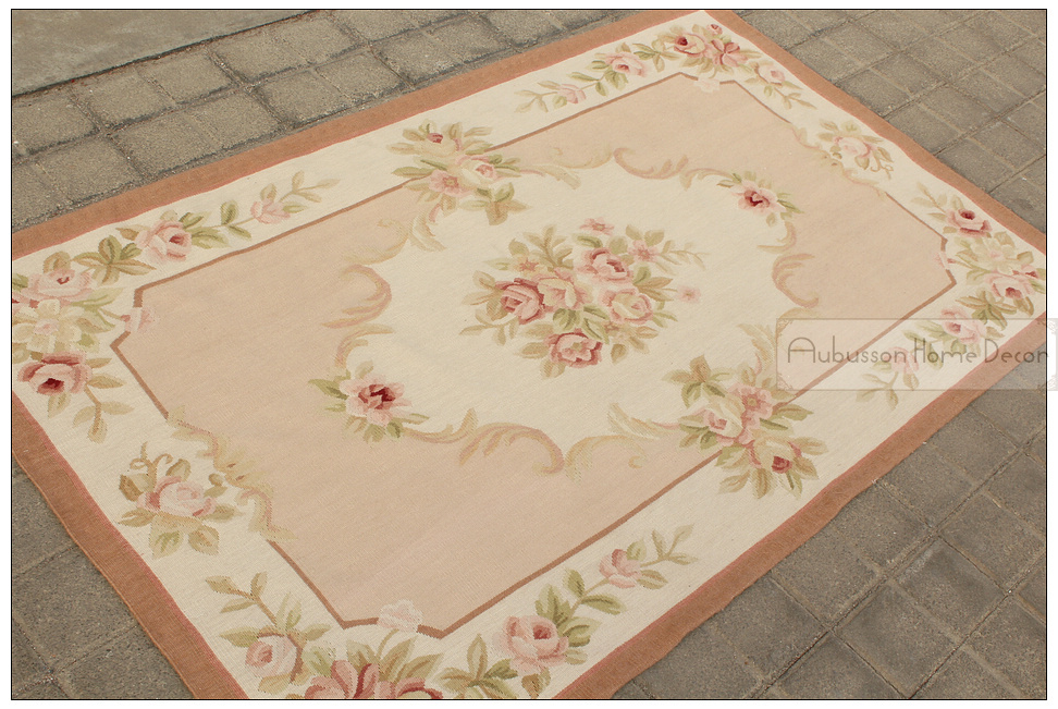3 39 x5 39 wool hand woven shabby chic french style aubusson for Tappeti country chic
