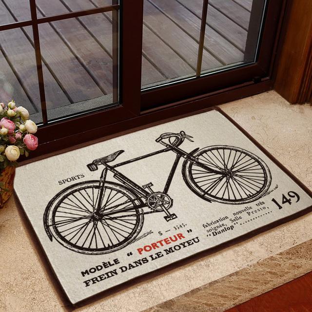 welcome mats slip-resistant carpet vintage home decorantion free shipping 40 60 cm