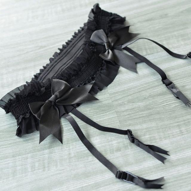 Большой размер XL подвязки сексуальное черное подвязки ремни большой Bowknots подтяжки ...