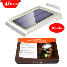 46 LED Solar Light with Motion Sensor Security Lamp IP65 Waterproof 1200 LUMENS For Garden Outdoor Path Lighting Free Shipping(China (Mainland))
