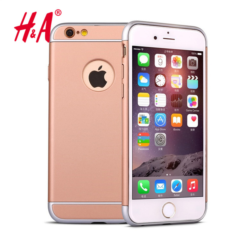 3 In 1 Combo Slim Hard Plastic Case For iPhone 6 6s 4.7 Arc Edge Coverage Removable Fashion Armor Back Cover cases(China (Mainland))
