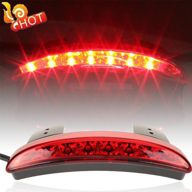 New High Quality Motorcycle Light Smoke&Red Color Rear Fender Edge Red LED Brake Tail light Fit For Harley Sportster XL 883 1200