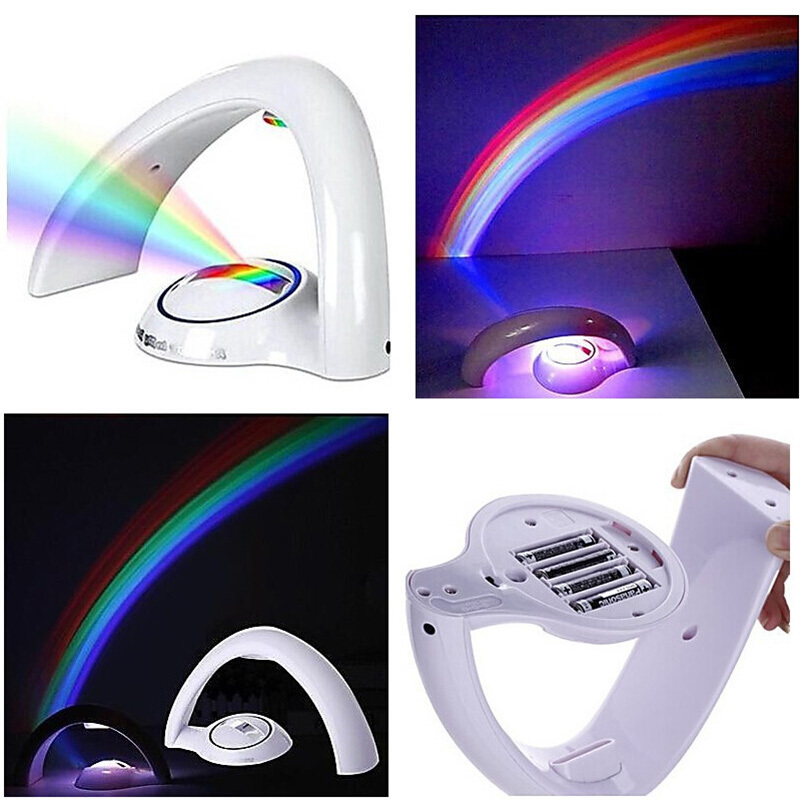 Amazing Rainbow Projector Romantic LED Night Multicolor Night Light Bed Room Magic Lamp Gift Rainbow Table Night Lamp(China (Mainland))