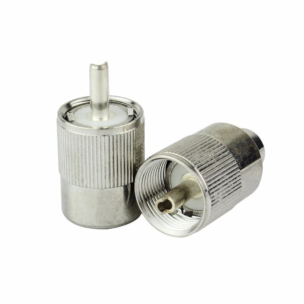 New Silver 50-3 Coax Cable Connector Car Radio Adapter M Male Plug J6248D(China (Mainland))