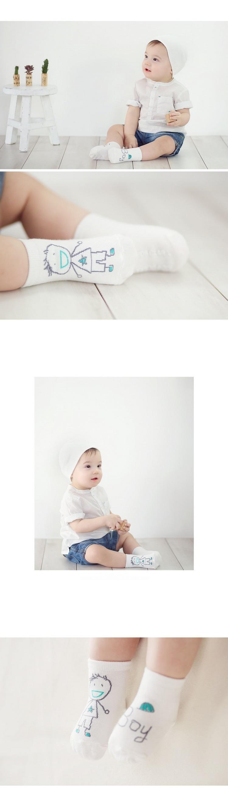 2016 Spring/autumn New Character Novelty Unisex Baby Socks Newborn Cotton Boys Girls Cute Toddler Asymmetry Anti-slip Sock