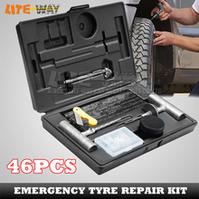 46PCS Tyre Puncture Repair Recovery Kit for car/ automobile, tire repair tools(China (Mainland))