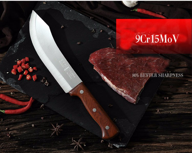 Buy Free Shipping DEFAM Forged Stainless Steel Kitchen Boning Knife Slaughter Butcher Knives Eviscerate Meat/Bone Butcher Knife cheap