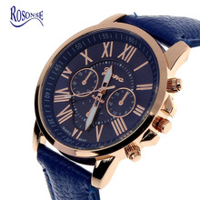 11 Colors 2015 New Fashion Ladies Watches Roman Numerals Faux Leather Analog Quartz Women Men Casual