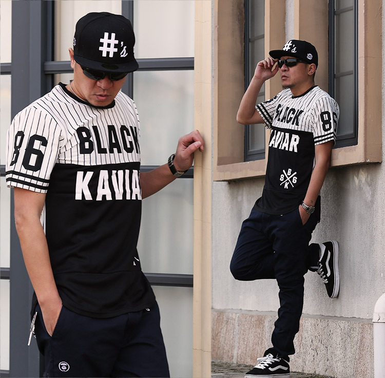 Black Urban Clothing Designers fashion black white extended t