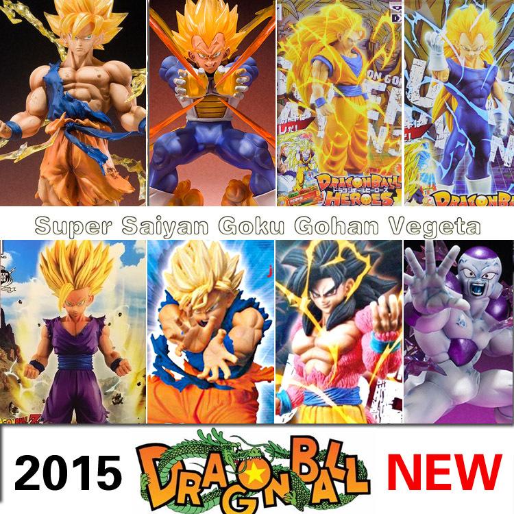 Anime Dragon Ball Z Super Saiyan 3 Son Goku Vegeta PVC Action Figure dbz Gohan 2 Model Toy Birthday Gift DragonBall GT 4 Frieza(China (Mainland))