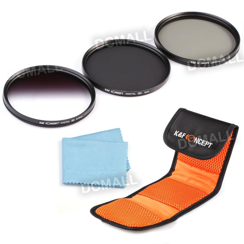 K&amp;F Concept 77mm UV CPL Circular Polarizing ND4 Neutral Density ND Lens Filter Kit For Canon Rebel T4i T3 T3i T2i T1i XS<br><br>Aliexpress