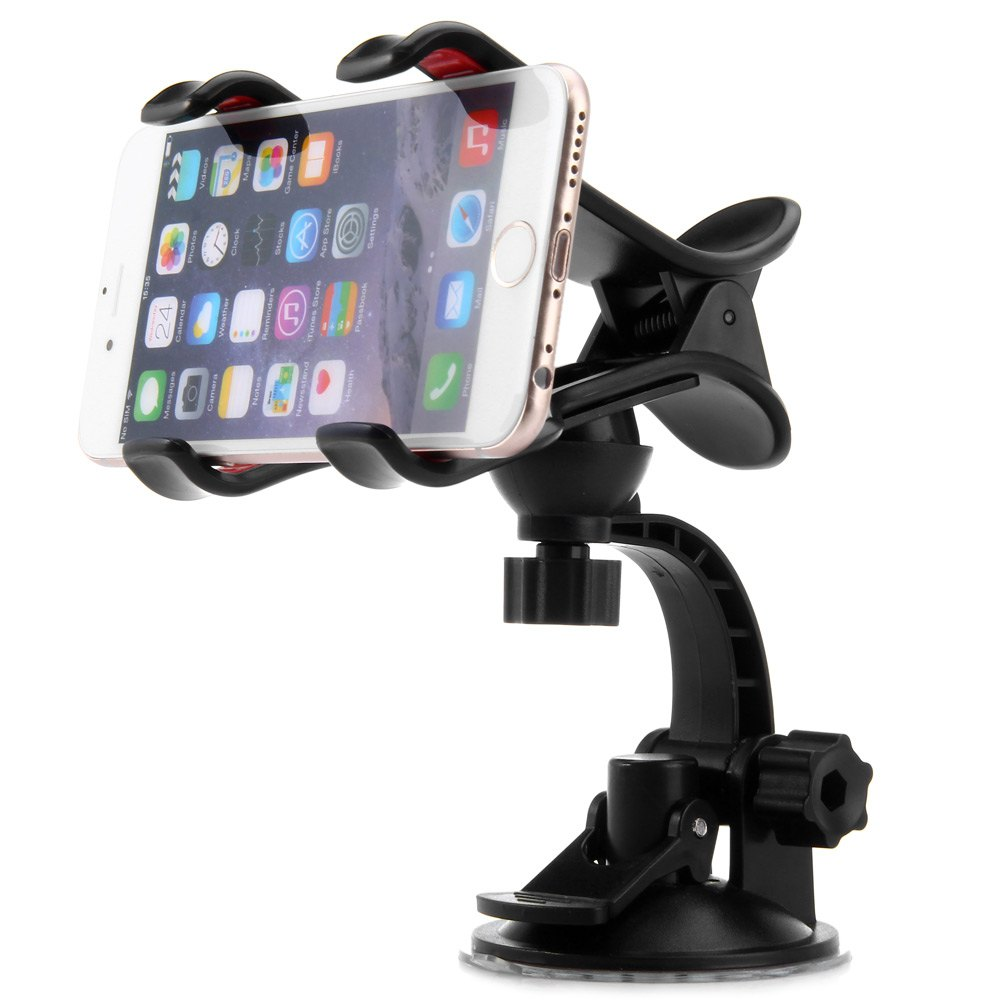 Rotatable Sucker Mount Clip Stand Phone Car Holder With Prefect Viewing Angles For iPhone, Samsung, HTC, etc(China (Mainland))
