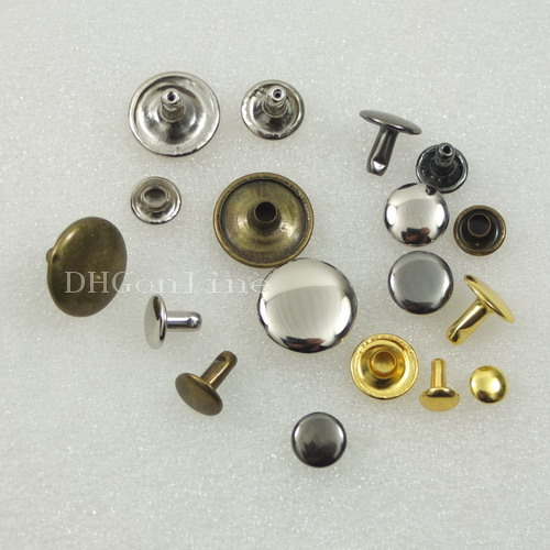 100 sets Double Round Cap Rivet Stud Button Leather Craft 15MM or 5/8'' Color choice(China (Mainland))