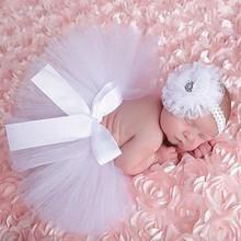 12 colors Beautiful Newborn baby tutu skirt Fashion Toddler  kids photograph prop set With flower hair accessories  HB356B(China (Mainland))