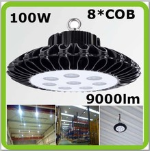 New patent design 100w LED high bay led canopy industrial light 9000LM high CRI 5 year warranty for gas station, warehouse hall.(China (Mainland))