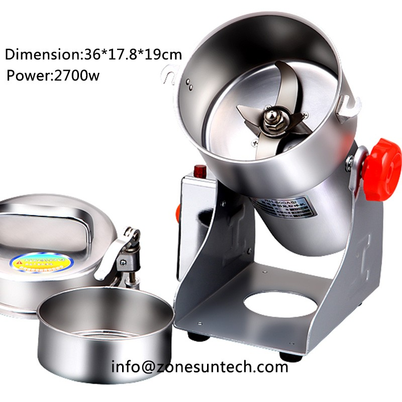 600g ,220V,Chinese medicine grinder stainless steel household electric flour mill powder machine, food grinder