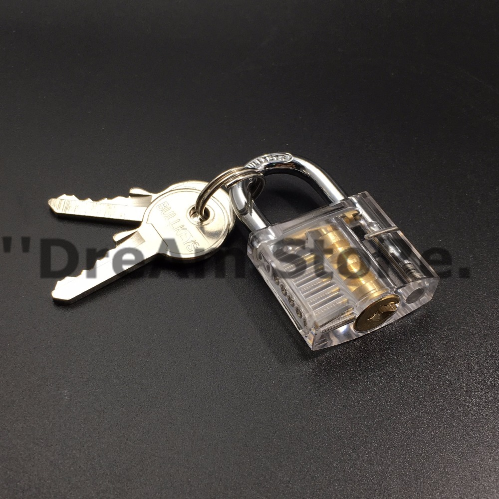 Hot sales Modern style Transparent Visible Cutaway Practice Padlock Lock Training Skill For Locksmith(China (Mainland))