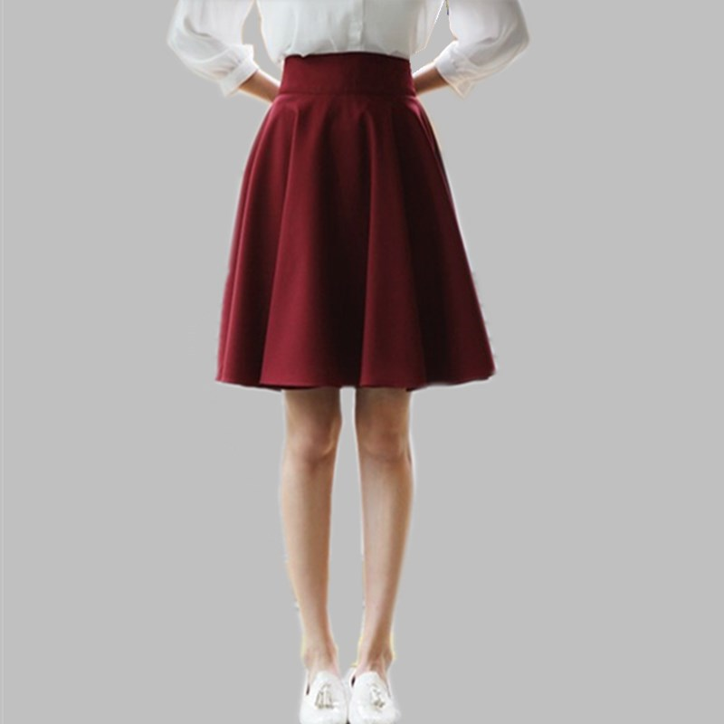 2015 autumn and winter woolen pleated skirt plus size
