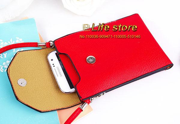 Leather Pouch Mobile Phone Case Wallet Lady Hand Case+ Shoulder Belt Samsung Galaxy J1 J100F J100H - eForMobile Tina store