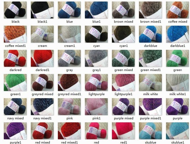 2*100g Skeins Luxury Mohair Wool Knitting Sweater Yarn;200g;Worst;pink white, red purple blue, green more color can be choosed