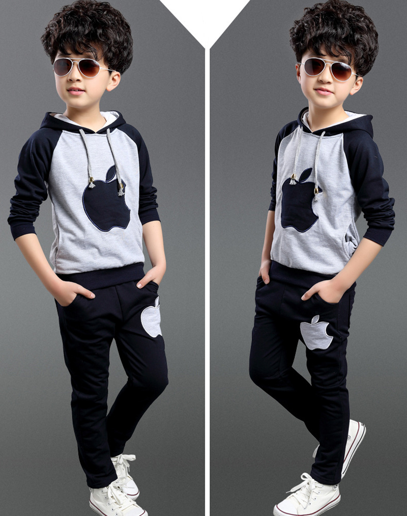 Boy set/girl set Spring Autumn Fashion Cartoon Kids Boy Coat Jacket Pants Boy Sport Suit Style Boys Clothing Sets(China (Mainland))