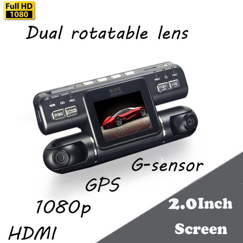 Big promotion Dual Lens I4000 Car DVR HD 1980 1080 120 Degree Wide Angle with G