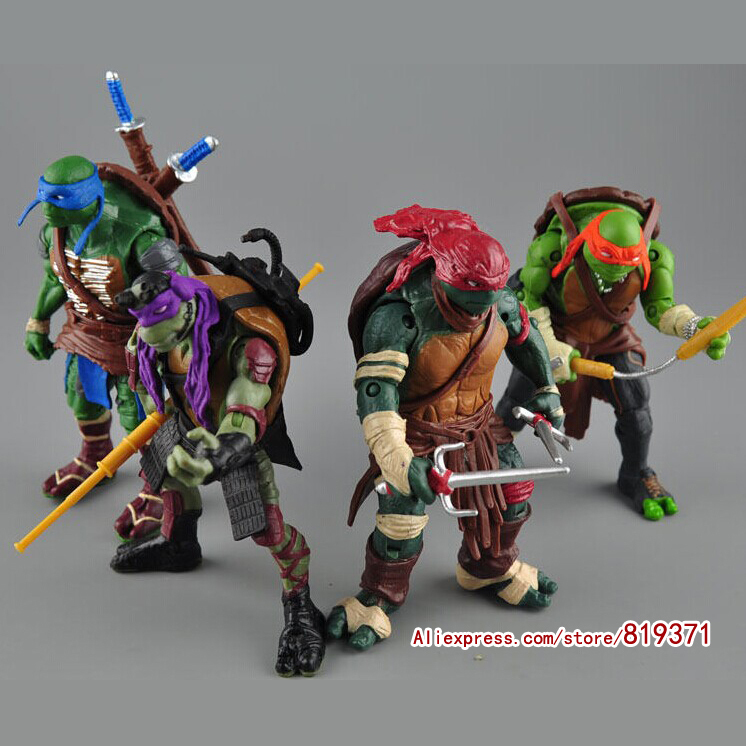 2015 New NECA Toy 4 pieces/lot Teenage Mutant Ninja Turtles hasbroeINGlys Action Figure tmnt Model Toys for boys juguetes Gift(China (Mainland))