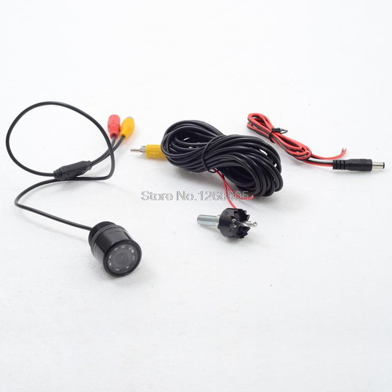 7 IR Diameter 25mm Wire Car Rear View Cameras Night Vision Automobile Rear-View Backup Cameras Parking Assistances(China (Mainland))