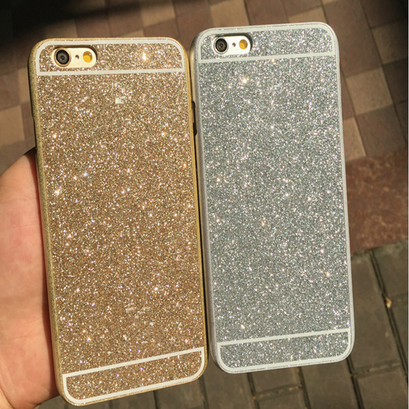 Luxury Bling Bling Shinning Sparkling Phone Case For Iphone 6 new UltraThin PC protect back skin Cover(China (Mainland))