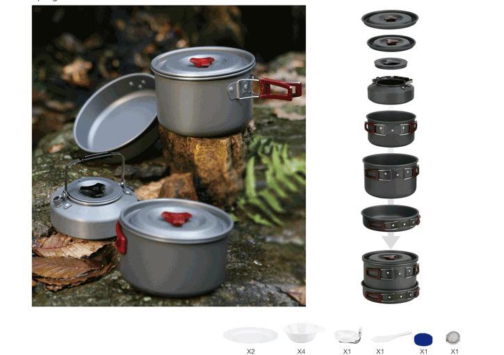 Acheter 4 5 personne marmite ustensiles for Acheter ustensiles de cuisine