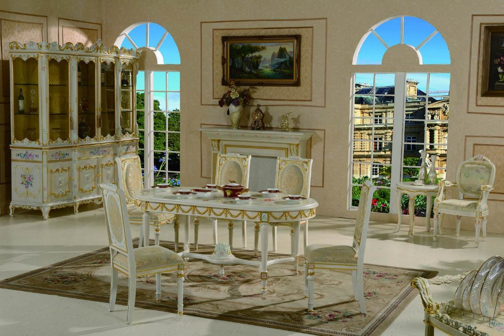 Italian style dining room furniture italian furniture made for Italian dining room sets