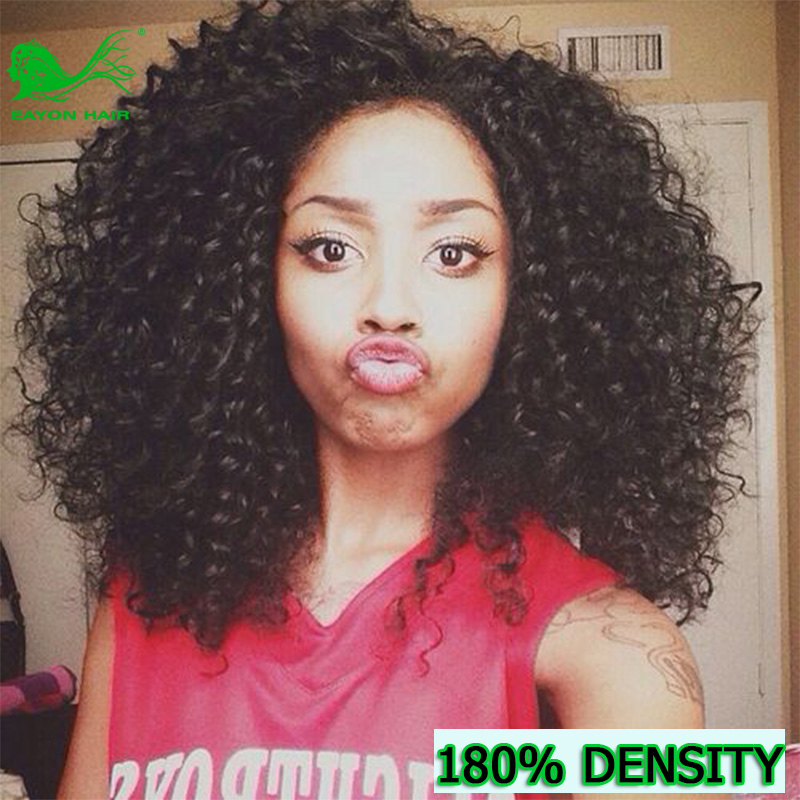 Virgin Brazilian Full Lace Human Hair Wigs Glueless Kinky Curly Promotion Lace Front Wig For Black Women Free Shipping<br><br>Aliexpress