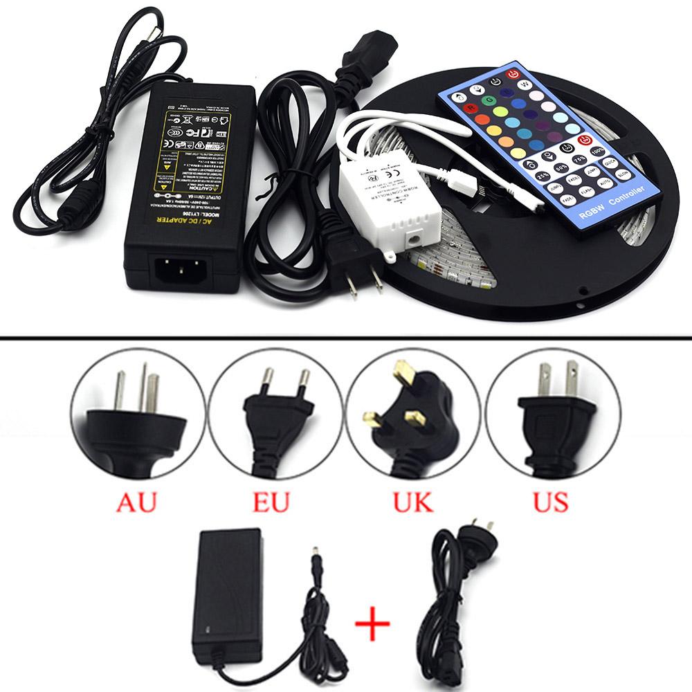 LED Strip 5050 RGBW DC12V 60 LED/m RGB+White / RGB+Warm White Flexible LED Light +12V 5A Power Adapter+IR Controller(China (Mainland))