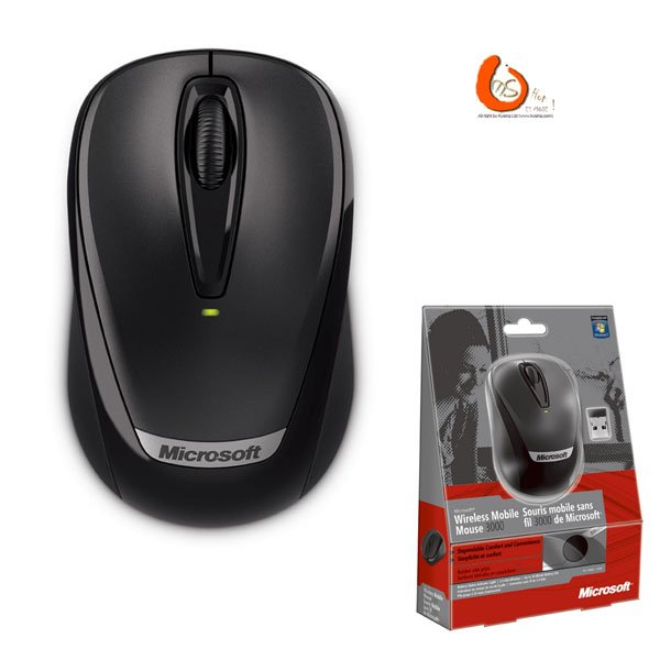 Hot sale 100% Original Genuine Product 3000 Black usb Wireless Optical Mouse Free Shipping(China (Mainland))