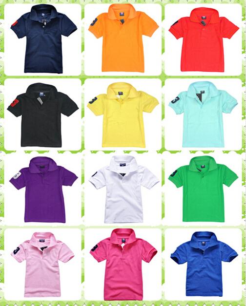 2015 13 Color Kids Boys Girl Children Baby Camisa Short Sleeve Shirt Clothes Shirts Boy T-Shirts (Big Horse logo) - MS. store