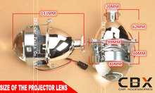 2014 New 3 Inches WST Bi Xenon Projector Lens Using H1 xenon lamp Easy Install for