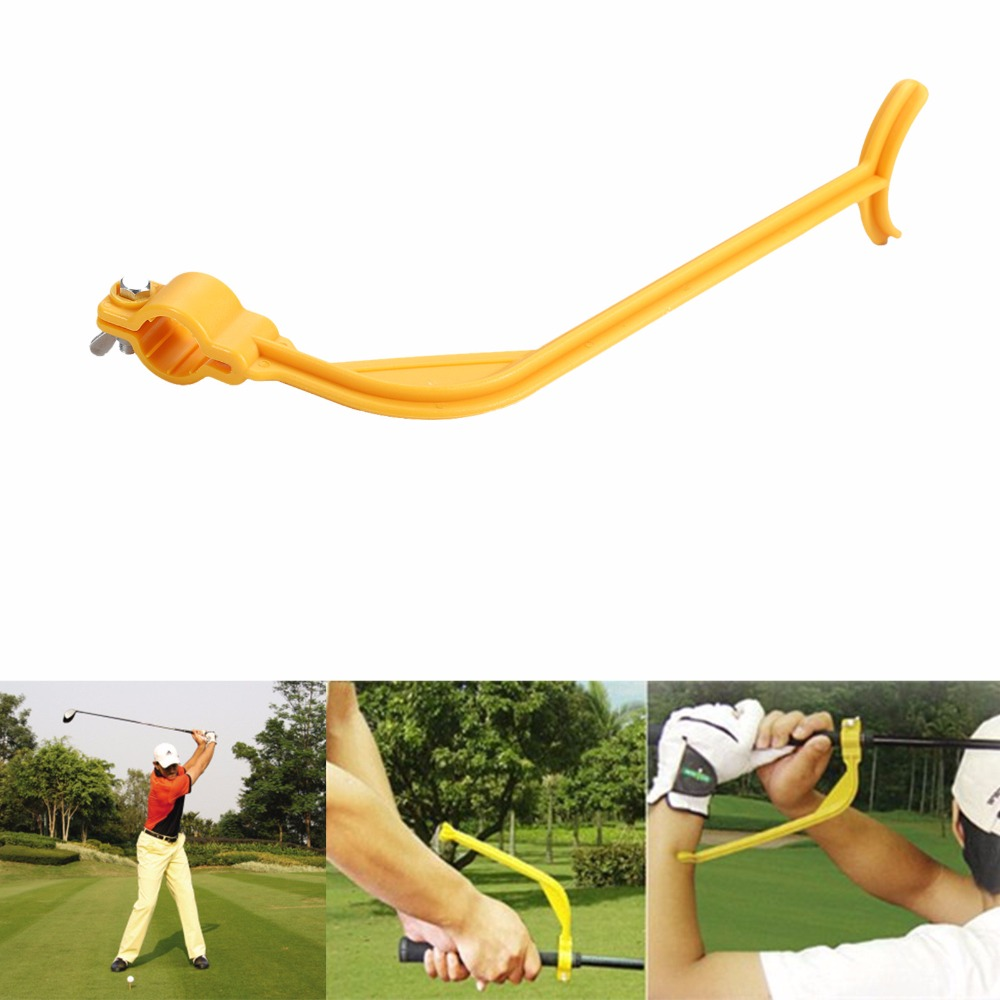 High Quality Golf Practice Swing Educational Trainer Guide Gesture Alignment Training Wrist Correct Aid Tool(China (Mainland))