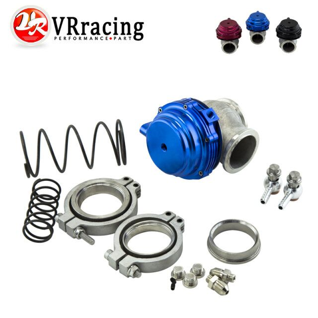 VR-FREE SHIPPING Water cooler 44mm TL Wastegate external turbo red/blue/black With Flange/Hardware MV-R Water-cooled w/ logo<br><br>Aliexpress