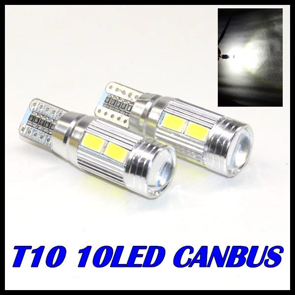 1 шт./лот T10 из светодиодов лампы CANBUS 194 ксеноновые лампы белого из светодиодов CANBUS нет ошибки OBC 10 СМД 5630 5730 с объективом проектор алюминиевый чехол лампы