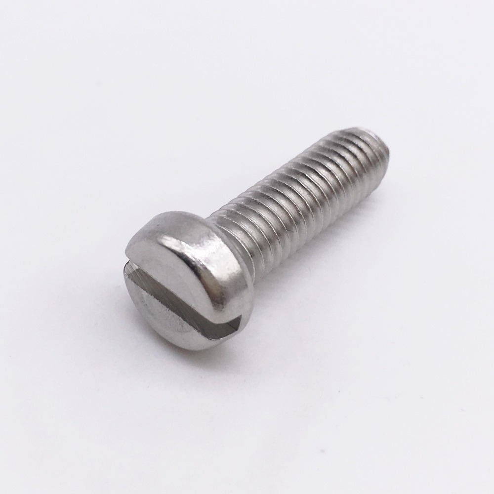 Machine Screw M2 Cheese Head Slotted Right Hand Threads Metric Length 4 mm Stainless Steel<br><br>Aliexpress