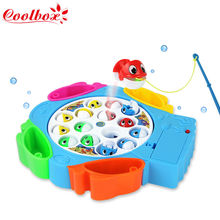 Fishing toy/Electric Rotating Magnetic Magnet Fish Fishing for Kid Children Educational Toy Game(China (Mainland))