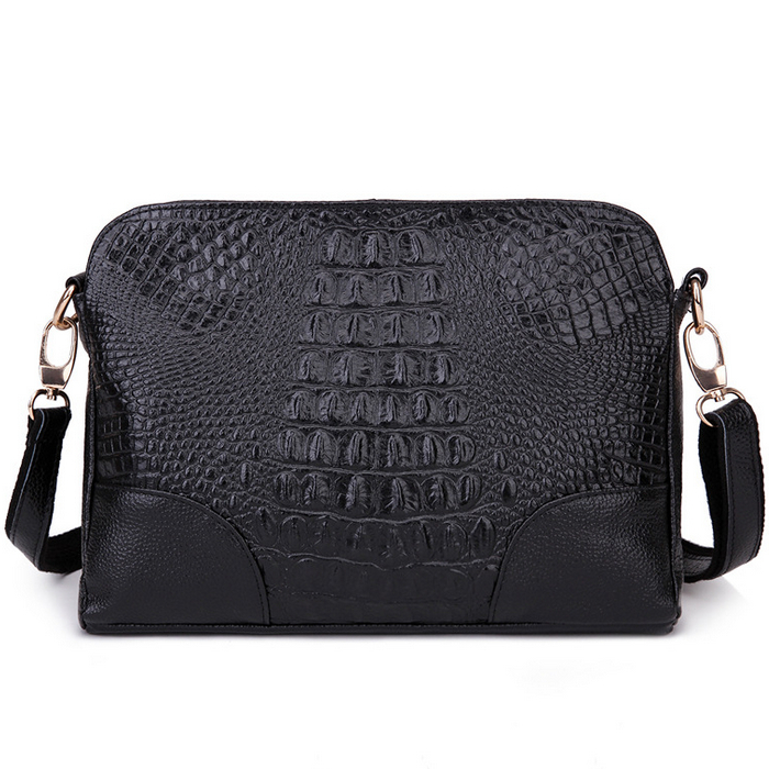 2016 new women handbag alligator leather shoulder crossbody bag women messenger bag lady day clutches purse women wallet(China (Mainland))