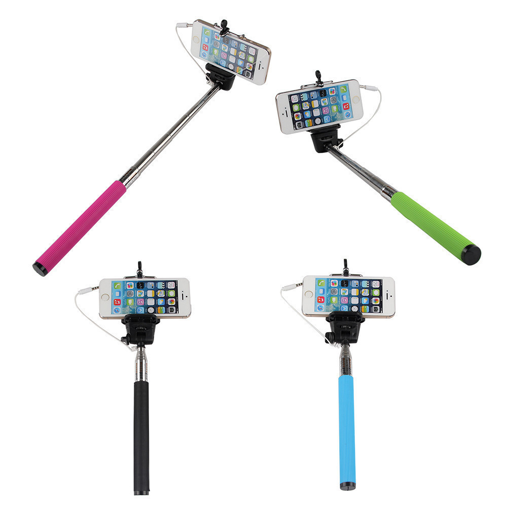 image for Extendable Folding Wired Selfie Stick Monopod For Samsung GalaxY S5 Pe