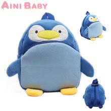 Super Lovely!Children School Bag Cartoon penguin Baby Backpack Baby double Shoulder Kindergarten Schoolbag Drop Shipping