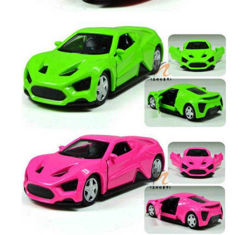 5pcs/lot baby toy car model sports car + school bus + police car door open pull back 8cm high performance kids toy child gift(China (Mainland))